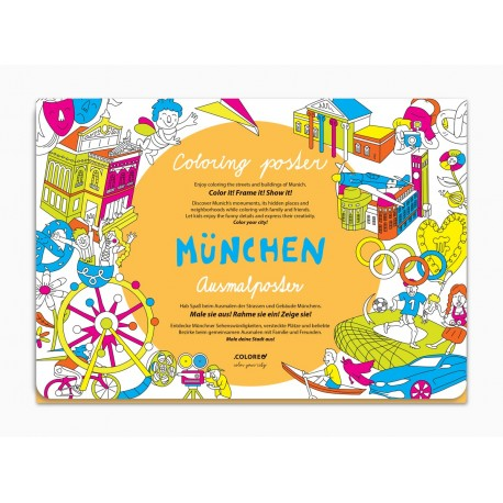 Mnichov plakát - omalovánka